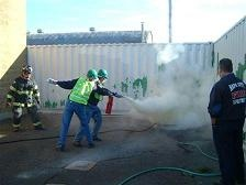 extinguishing fire exercise
