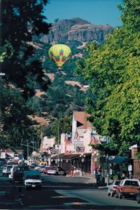 Balloon over the palisades
